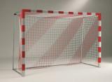 Handballtornetz, 4 mm stark, Tortiefe 80 / 100 cm, 2-farbig, per Paar