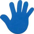 Bodenmarkierung Hand