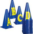 Markierungskegel-Set mit Buchstaben, 23 cm