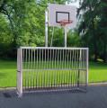 Vollverschweisstes Bolzplatztor mit Basketball-Korb